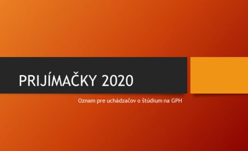 Prijímačky 2020